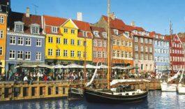 в Данию