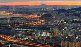 в Южную Корею